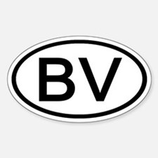 BV - Initial Oval Oval Decal