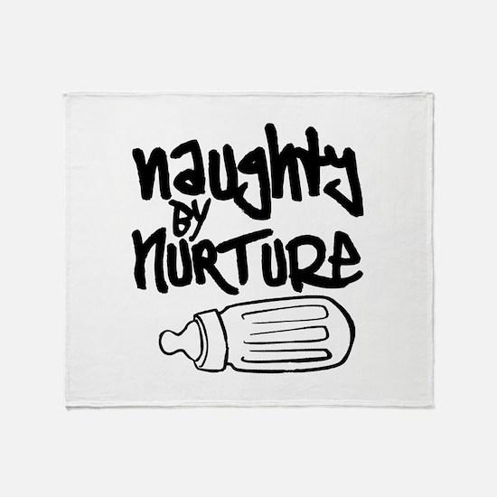 Naughty by Nurture Throw Blanket
