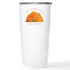 Love Grows Here Sunflowers Travel Mug