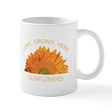 Love Grows Here Sunflowers Mug