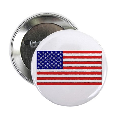 "Painted American Flag 2.25"" Button (100 pack)"