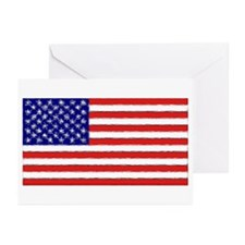 Painted American Flag Greeting Cards (Pk of 10