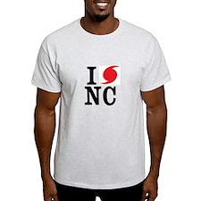 I Love NC Hurricane Irene T-Shirt