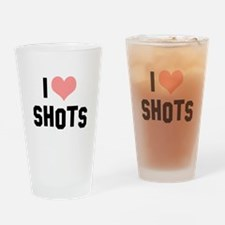 I heart Shots Drinking Glass