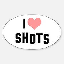 I heart Shots Sticker (Oval)
