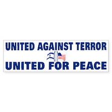 United Against Terror Bumper Bumper Sticker