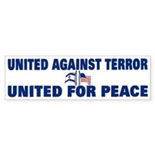 United Against Terror Bumper Bumper Stickers