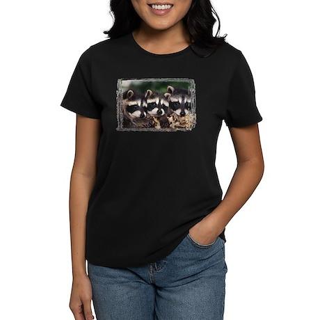 3 Raccoons Women's Dark T-Shirt