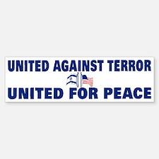 United Against Terror Bumper Bumper Bumper Sticker
