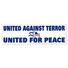 United Against Terror Bumper Bumper Sticker
