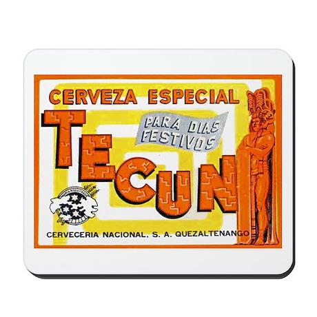 Guatemala Beer Label 1 Mousepad