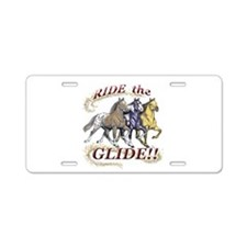 RIDE THE GLIDE! Aluminum License Plate