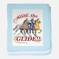 RIDE THE GLIDE! baby blanket