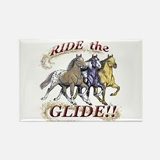 RIDE THE GLIDE! Rectangle Magnet