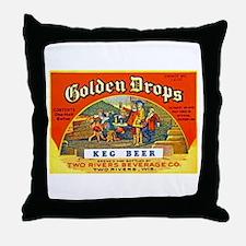 Wisconsin Beer Label 2 Throw Pillow