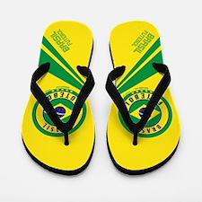 Brasil Futebol/Brazil Soccer Flip Flops