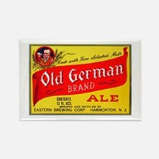 New Jersey Beer Label 4 Rectangle Magnet