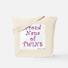 Proud Nana of Twins Tote Bag