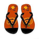 Pumpkin Halloween Flip Flops