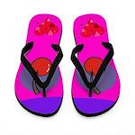Cherry Hearts Flip Flops
