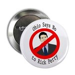 Ohio Says No to Rick Perry campaign button
