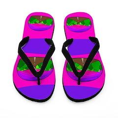 Neon Road Flip Flops