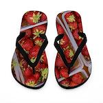 Strawberry Basket Flip Flops