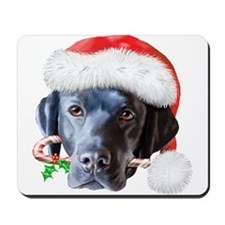 Black Lab Christmas Mousepad