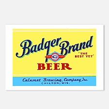 Wisconsin Beer Label 1 Postcards (Package of 8)