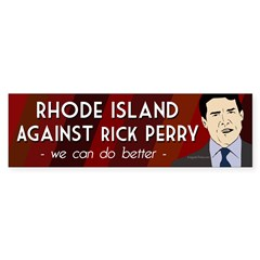 Rhode Island Against Rick Perry sticker