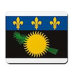 Guadeloupe Flag Mousepad