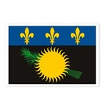 Guadeloupe Flag Postcards (Package of 8)