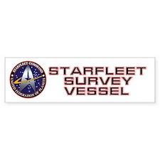Starfleet Survey Vessel Bumper Sticker