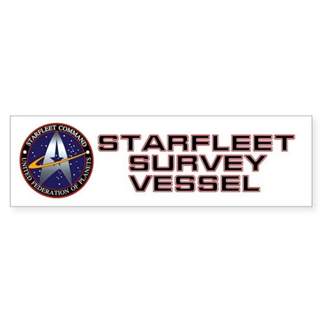 Starfleet Survey Vessel Sticker (Bumper)