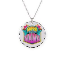 Pink Super Nana Necklace Circle Charm