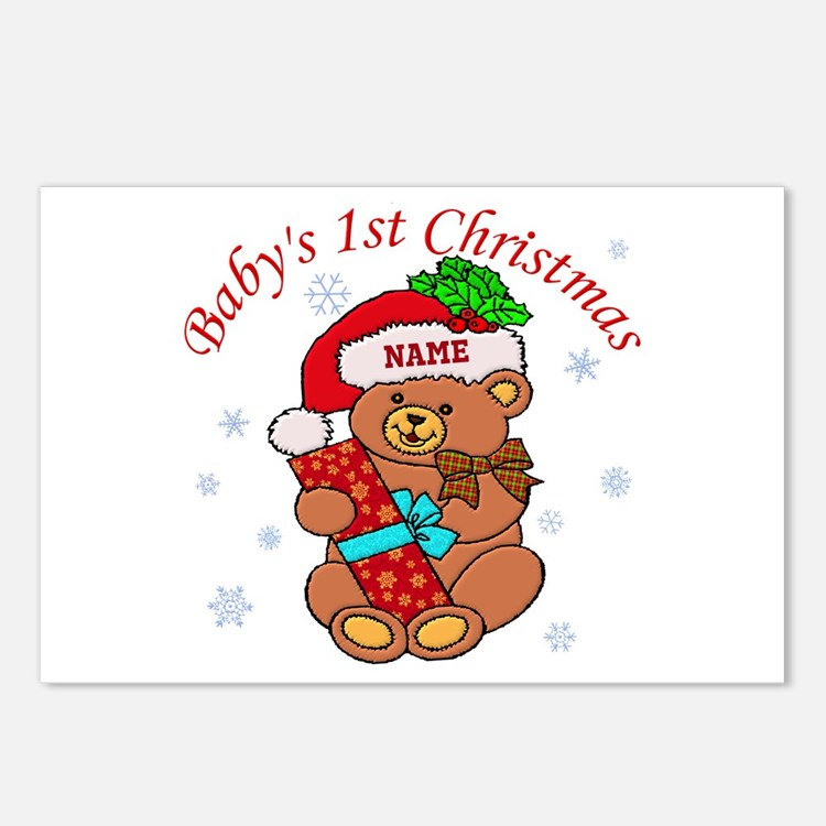 Baby's 1st Christmas Postcards (Package of 8)