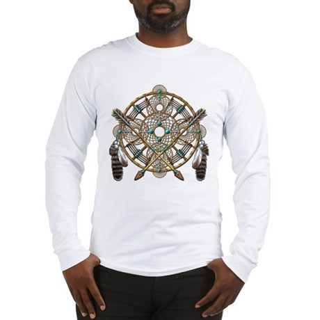 Turquoise Silver Dreamcatcher Long Sleeve T-Shirt