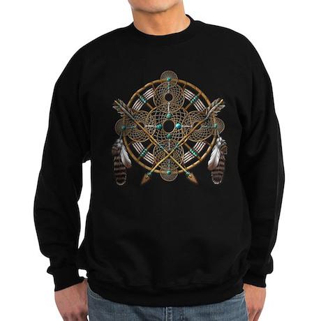 Turquoise Silver Dreamcatcher Sweatshirt (dark)
