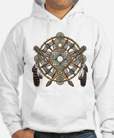 Turquoise Silver Dreamcatcher Hoodie