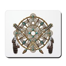 Turquoise Silver Dreamcatcher Mousepad