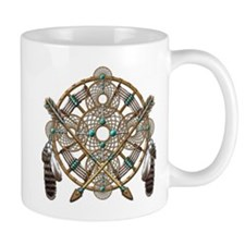 Turquoise Silver Dreamcatcher Mug