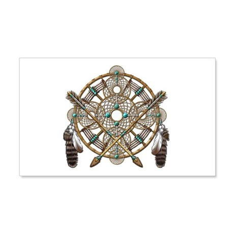 Turquoise Silver Dreamcatcher 22x14 Wall Peel