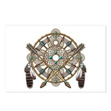Turquoise Silver Dreamcatcher Postcards (Package o