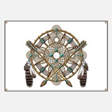 Turquoise Silver Dreamcatcher Banner