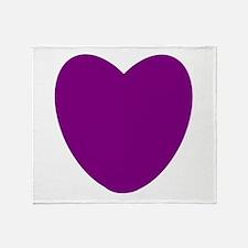 Purple Heart Throw Blanket