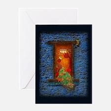 Moon night and warmth - Greeting Card
