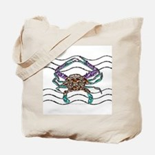 Gem Blue Crab Tote Bag