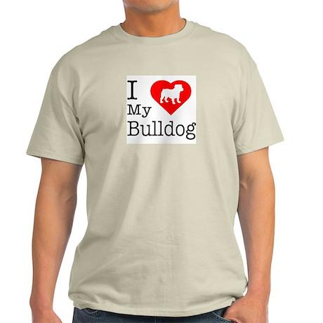 I Love My Bulldog Light T-Shirt