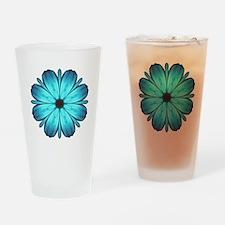 Kaleidoscopic Butterfly Drinking Glass