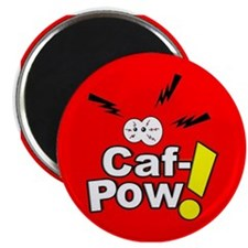 Caf PowLarge Button Magnets
